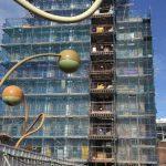 Wolstenholme Square scaffolding (2) - Aspen Woolf
