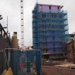 Wolstenholme Square scaffolding - Aspen Woolf