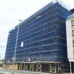 Victoria House scaffolding (2) - Aspen Woolf