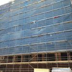 Victoria House scaffolding - Aspen Woolf