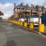 Eldon Grove Hoarding being put up in Liverpool, Aspen Woolf 4